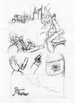 Keeley Issue 4, Page 18 Pencils, 1st Draft