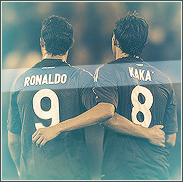 Cristiano Ronaldo and Kaka by Rzr316