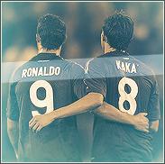 Cristiano Ronaldo and Kaka by Rzr316