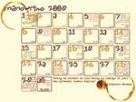 Nanowrimo Calendar 2009 by leftnwrite08