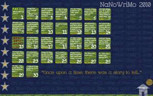 NanoWriMo 2010 Calendar by leftnwrite08