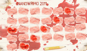 NaNoWrimo Calendar 2011