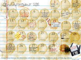 NaNoWriMo Calendar 2012 by leftnwrite08