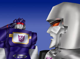 Megatron and Soundwave by Tutankhamun