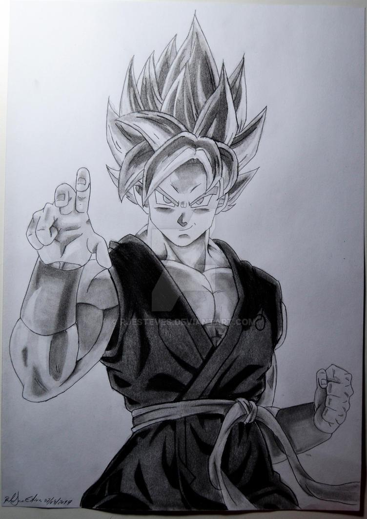 Goku ssb drawing by rjesteves