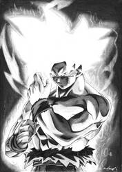 Goku Ultra Instinct Drawing by RJEsteves
