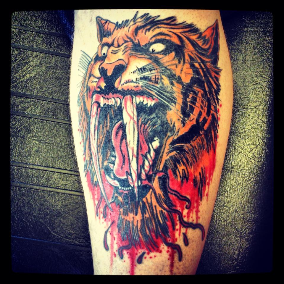 Pin Pin Sabre Tooth Tiger Tattoo Artistsorg On Pinterest on Pinterest