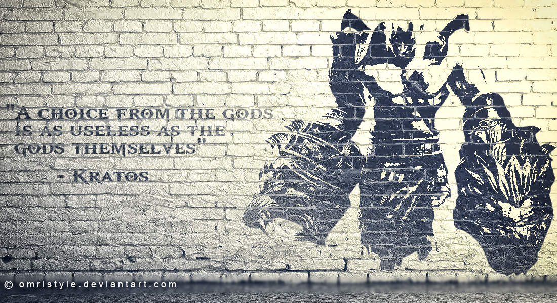 God Of War Kratos Wall Painting Design By Omristyle On Deviantart