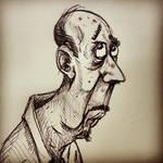 Unknown office worker sketch