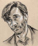 portrait practice - David Tennant as DI Hardy