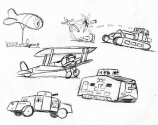 World War 1 Doodles by NCOPictures