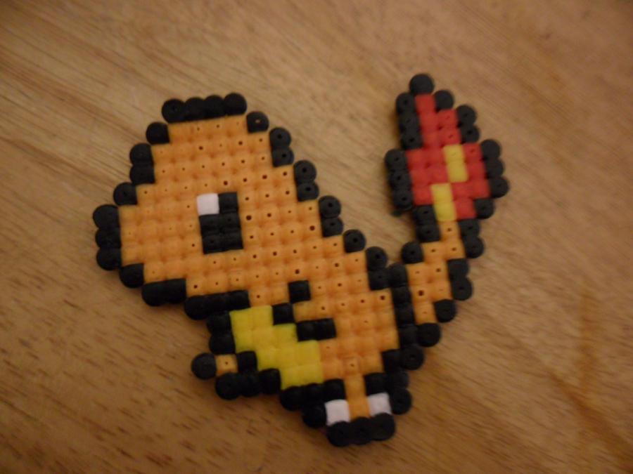 Charmander Pokemon Hama Beads by jazzyjazz666