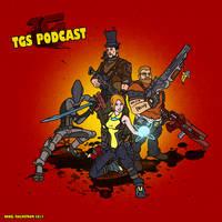 TGS podcast Fan art Borderlands 2 style by crotchbandit