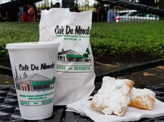 Coffee and Beignets by RenaissancePurple