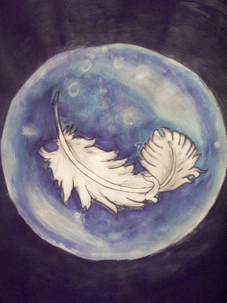 Feather in Bubble by Amy-Smith