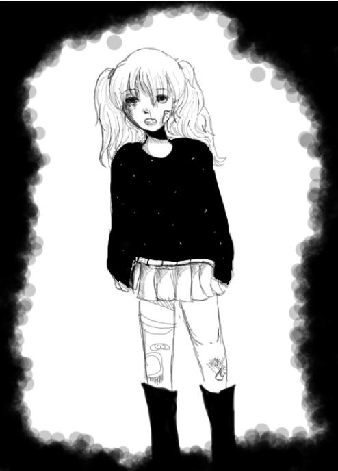 Rolling Girl by gardenflowers