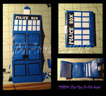 Craft Commission: Doctor Who TARDIS Wallet