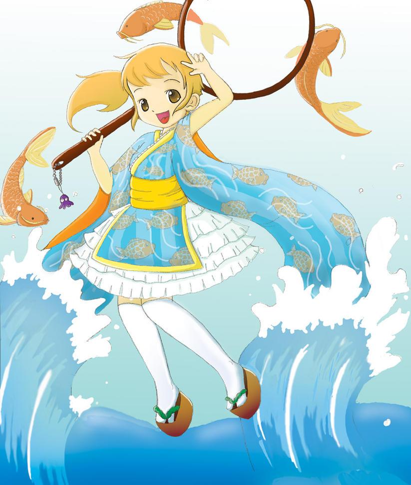 Koi girl by yojambo