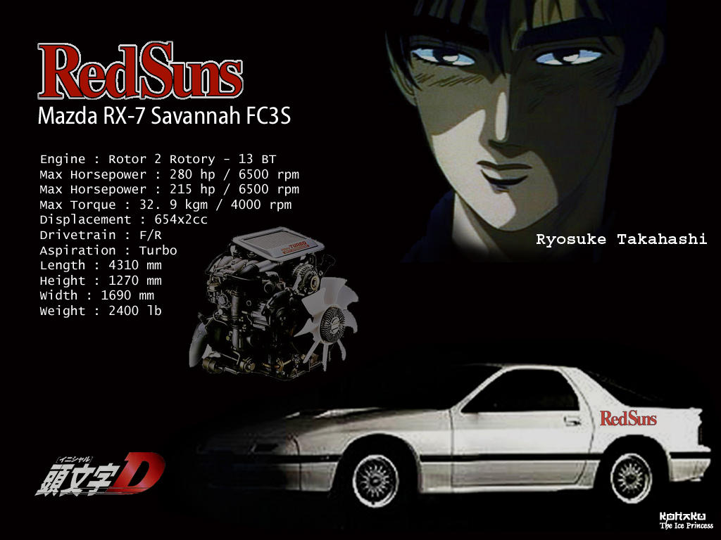 Initial-D Mazda RX7 FC3S by Yukihime on DeviantArt