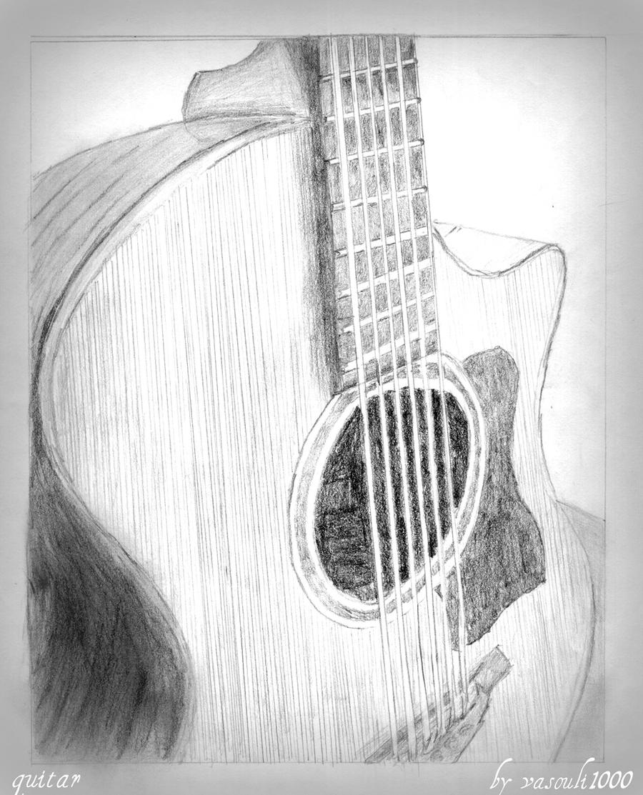 Guitar Drawing By Vasouli1000 On Deviantart