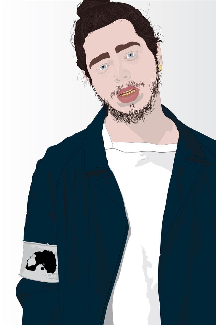 How To Draw Post Malone >> Post Malone Portrait by NinjaGKTA on DeviantArt
