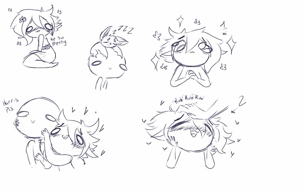 Random doodles: Harris the scary vampire by PastelPastryClown