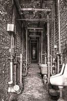 Lorton Prison - Narrow Passageway by cjheery