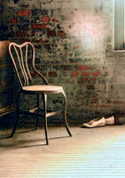 Abandoned Silk Mill, Chair And Shoes by cjheery
