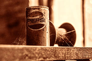 Abandoned Silk Mill, Pepsi Can and Spool by cjheery