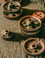 Abandoned Silk Mill, Gears by cjheery
