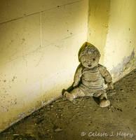Abandoned Mental Asylum, Creepy Doll by cjheery