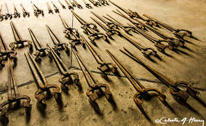 Abandoned Blacksmith Shop - Tools On Floor by cjheery