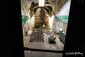 Abandoned Penitentiary - Cell Through Doorway by cjheery