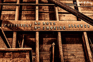 Abandoned Machine Shop - No Boys No Smoking by cjheery