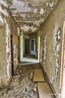 Abandoned Mental Asylum - Hallway by cjheery