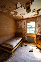 Abandoned Mental Asylum - Bedroom by cjheery