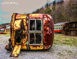 Trolley Graveyard - On Its Side by cjheery