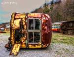 Trolley Graveyard - On Its Side