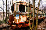 Trolley Graveyard - Blue and Rust