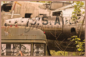 Airplane Graveyard - U.S. Air Force Front by cjheery