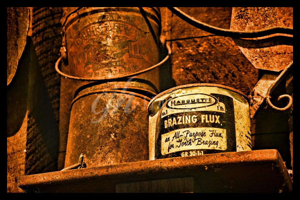 Abandoned Machine Shop - Brazing Flux by cjheery
