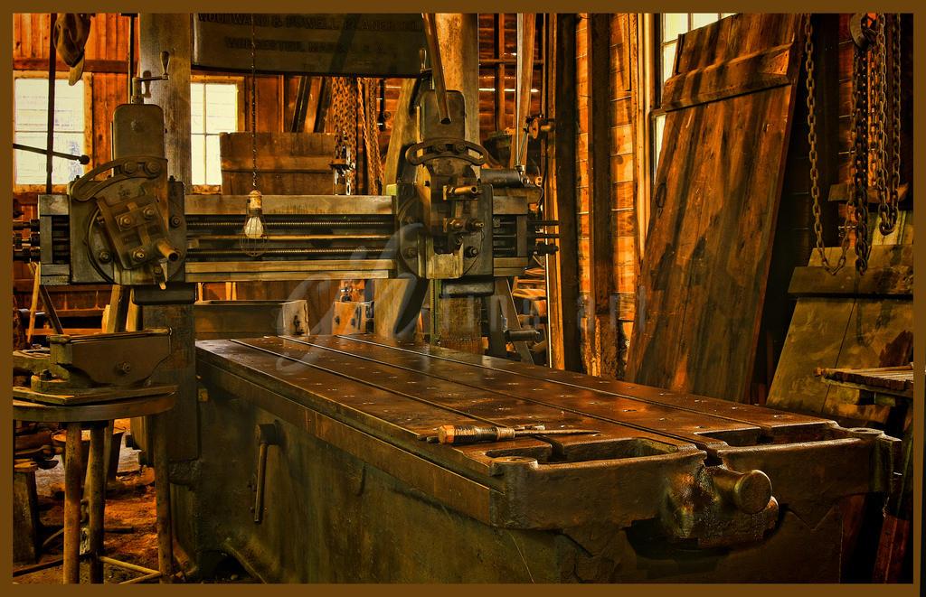 Abandoned Machine Shop - Machine II by cjheery