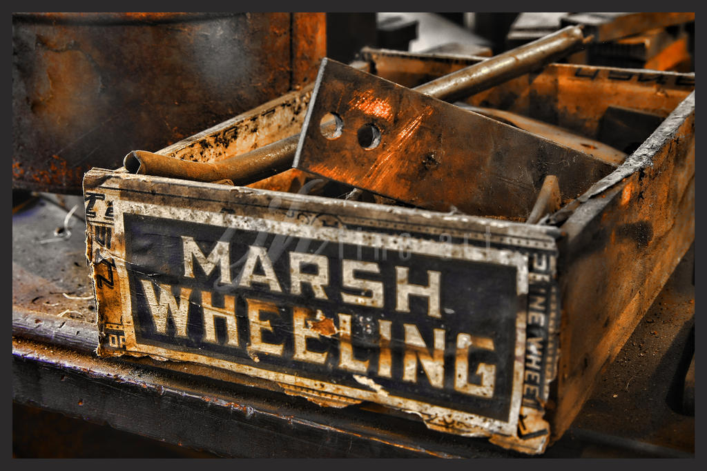 Abandoned Machine Shop - Marsh Wheeling by cjheery
