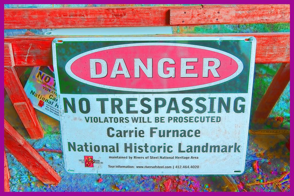 Abandoned Furnace - No Trespassing by cjheery