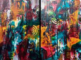 Urban Sprawl (Diptych) by cjheery