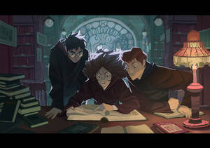 Harry Potter - In the library