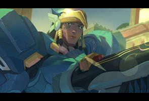 Overwatch - Pharah by Nesskain
