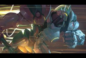 Overwatch - Reinhardt by Nesskain