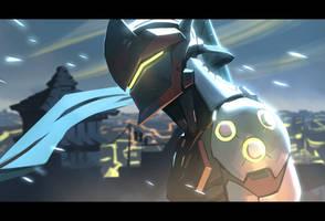 Overwatch - Genji by Nesskain