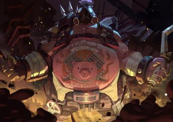 Overwatch - Roadhog by Nesskain